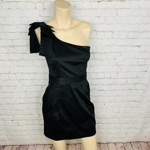 FRENCH CONNECTION Dress Black One Shoulder Mini